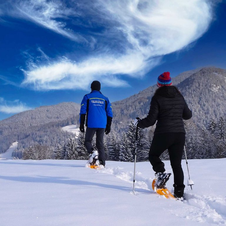 Scuola Italiana Sci e Snowboard Tarvisio - Sella Nevea organizza escursioni con le Ciaspe